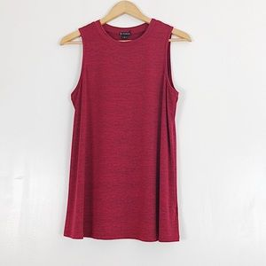 New Directions Red Jersey Tank Sz L